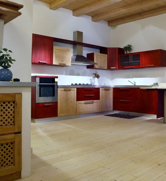 Arsa mobili abete spazzolato vicenza padova prodotti cucine moderno cucina valsuagana 1 - Cucina bordeaux ...